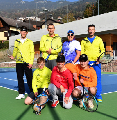 Trainingstag der Tennisspieler in Liechtenstein